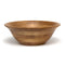 Oak Finish Large Footed Flaired Bowl
