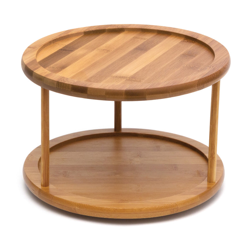 Bamboo 2-Tier Turntable