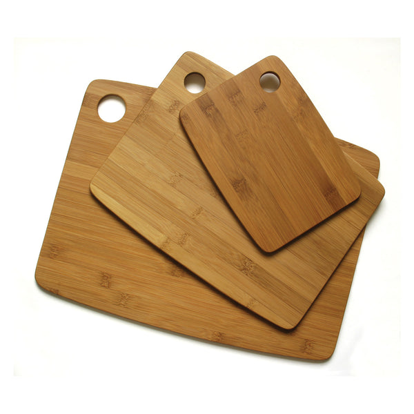 Bamboo Thin Cutting Board With Oval Hole in Corner