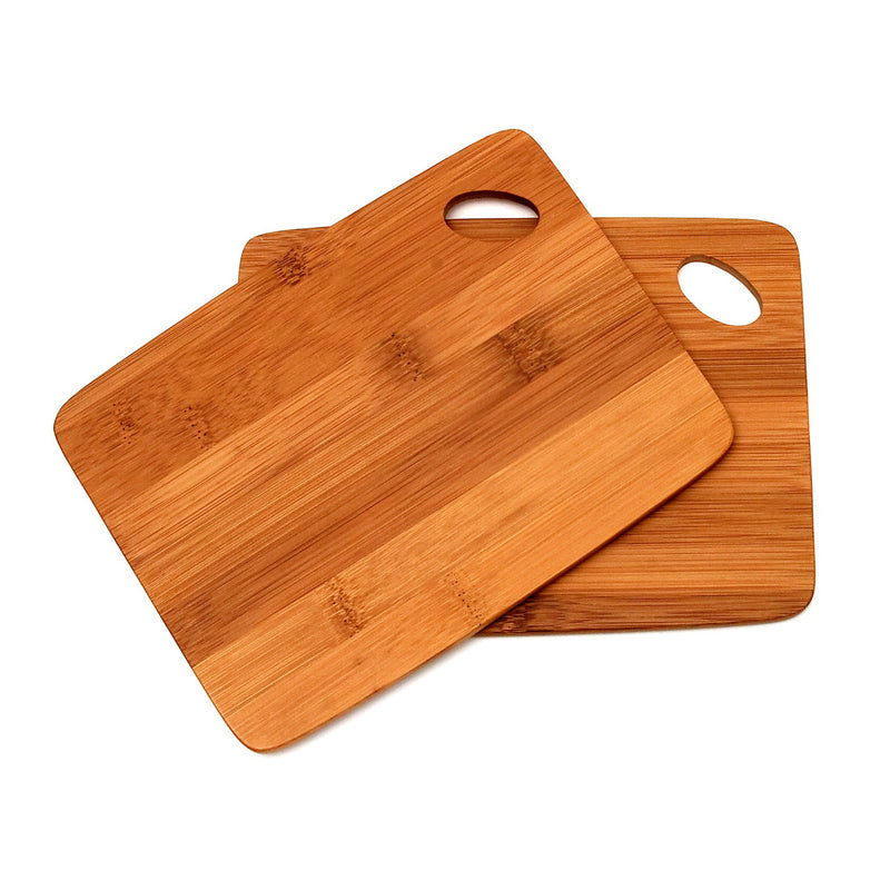 Bamboo 2 Thin Cutting Boards With Oval Hole in Corner
