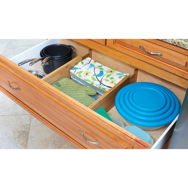 Bamboo Deep Kitchen Drawer Dividers