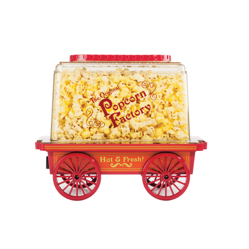 VINTAGE WAGON POPCORN MAKER- RED