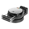 Black and Stainless Steel Belgian Waffle Maker with Detachable Plates