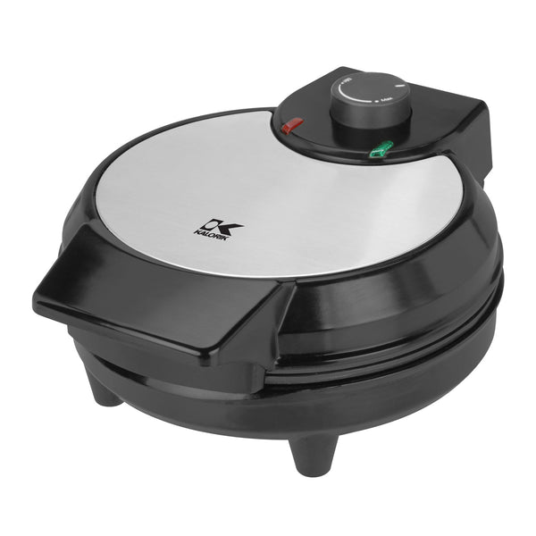 Kalorik Black and Stainless Steel Belgian Waffle Maker.