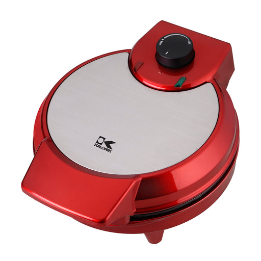 Kalorik Black and Stainless Steel Belgian Waffle Maker