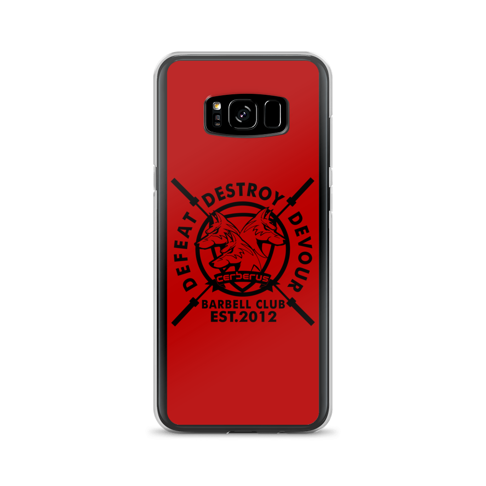 Barbell Samsung Case Black on Red