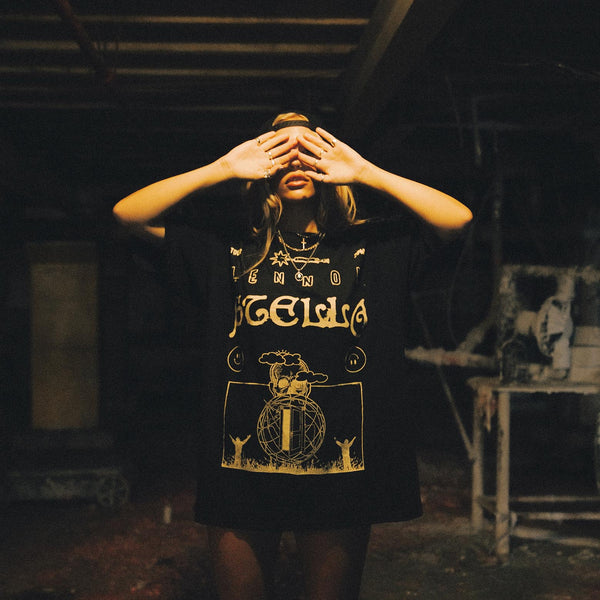 Black + Yellow Surreal Tee
