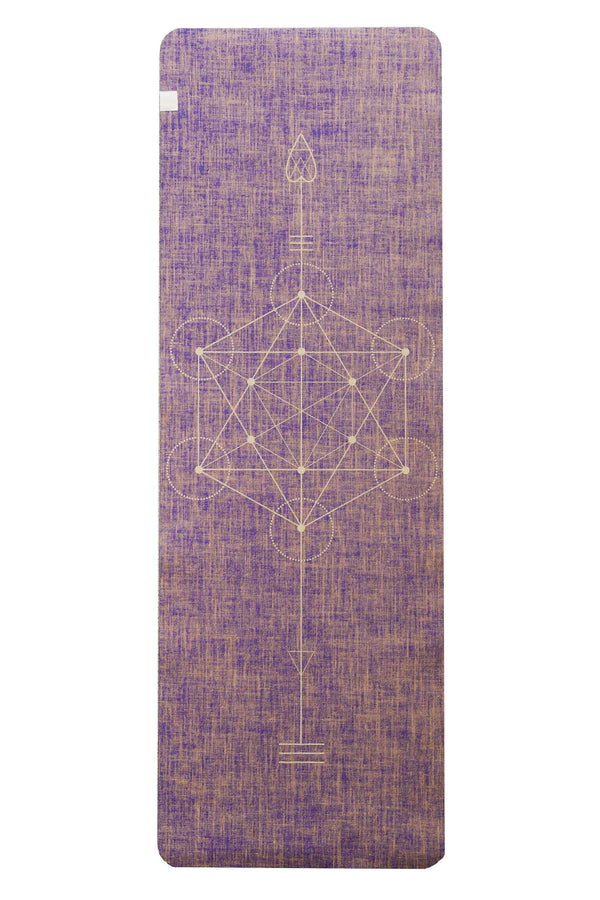 Factory Seconds Metatron Mystikka Purple Organic Jute 100% Eco YogaTribe® Mat - Yoga Tribe NZ