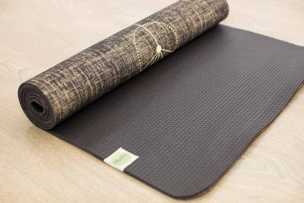 Metatron Black Organic Jute 100% Eco YogaTribe® Mat - Yoga Tribe NZ