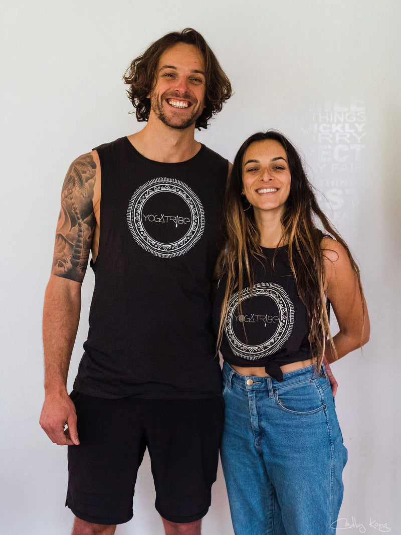 Organic 100%  Cotton Charcoal YogaTribe® Tank - Yoga Tribe NZ