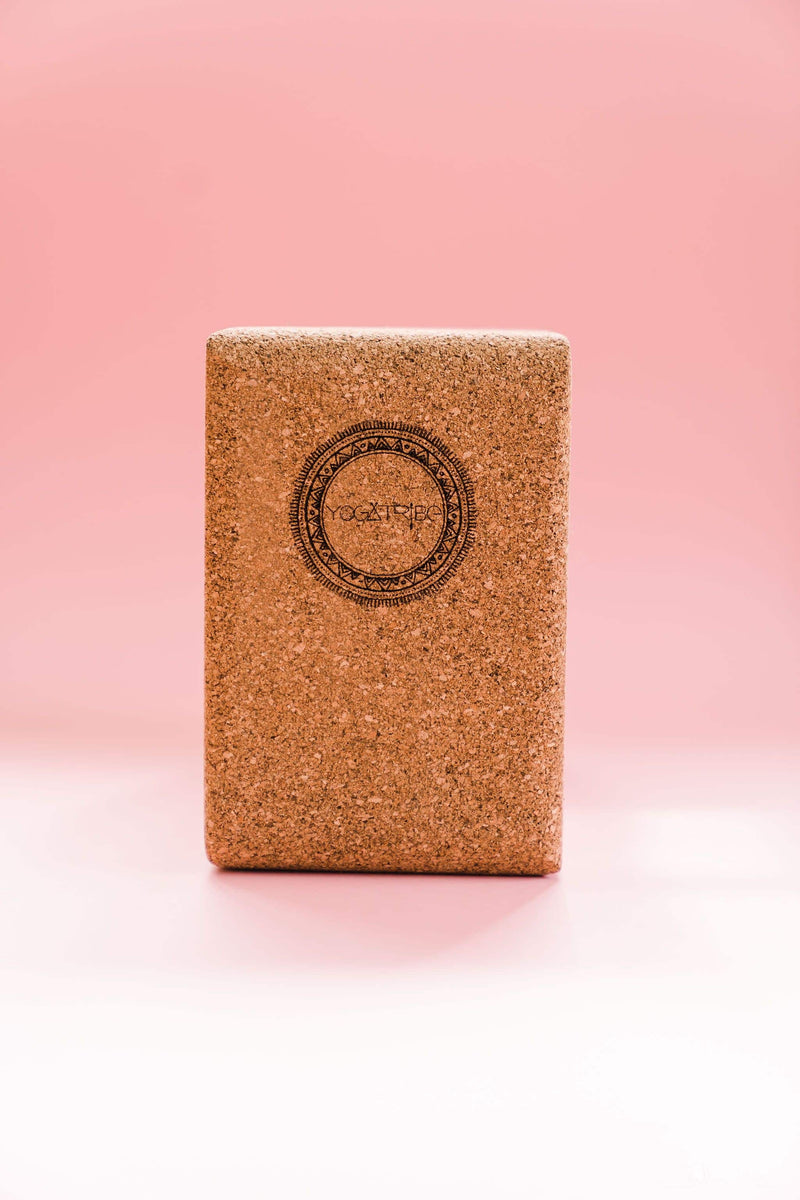 SWAMI Step 100% Cork ''BREATHE' Eco Yoga Block - Yoga Tribe NZ