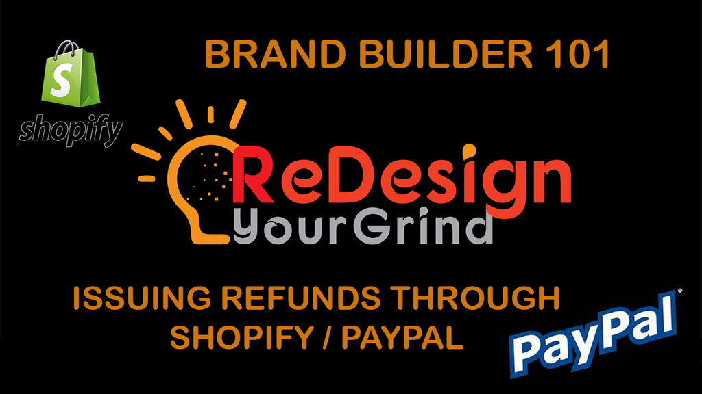 Brand-Builder 101: Shopify Tutorial - Issuing a Refund through Shopify/ PayPal - ReDesignYourGrind
