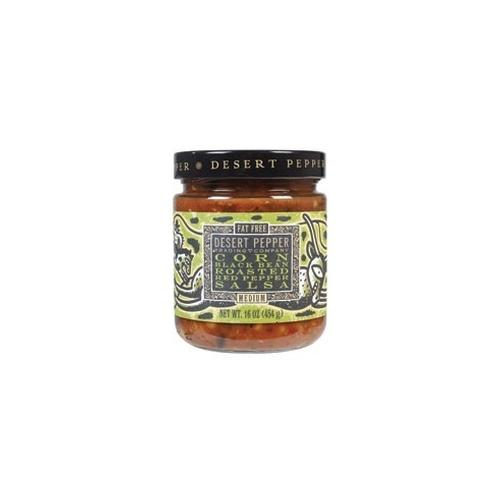 Desert Pepper Corn Black Bean Roasted Pepper Salsa (6x16 Oz)