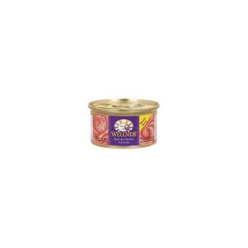 Wellness Canned Beef & Chicken Cat Food (24x5.5 Oz)