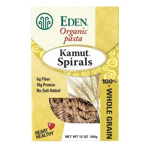 Eden Foods Whole Kamut Spirals (6x12 Oz)