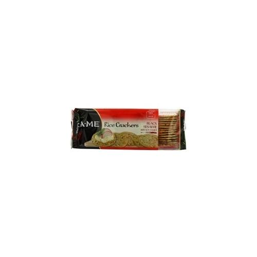 Ka-Me Rice Crunch Cracker Black Sesame & Soy Sauce (12x3.5Oz)