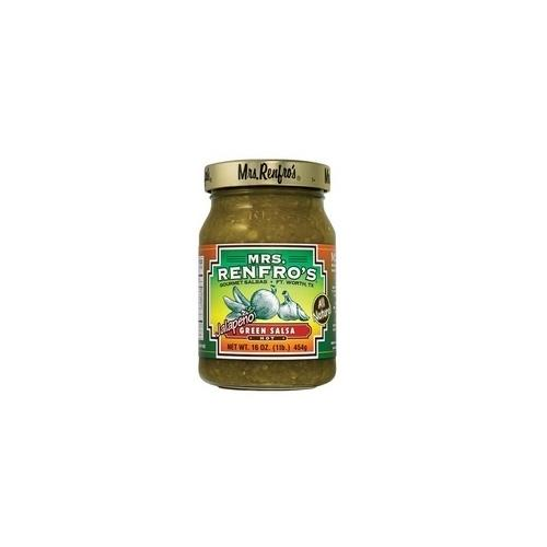 Mrs. Renfro's Green Hot JalapeÐo Salsa (6x16Oz)