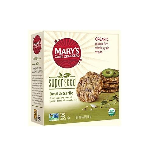 Mary's Gone Crackers Super Seed Basil & Garlic  (6x5.5 OZ)