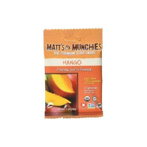 Matt's Munchies Organic Mango Fruit Snack (12x1 OZ)