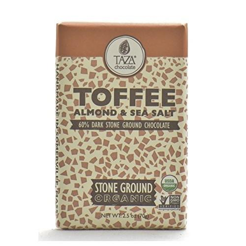 Taza Chocolate Toffee Almond & Sea Salt (10x2.5 OZ)