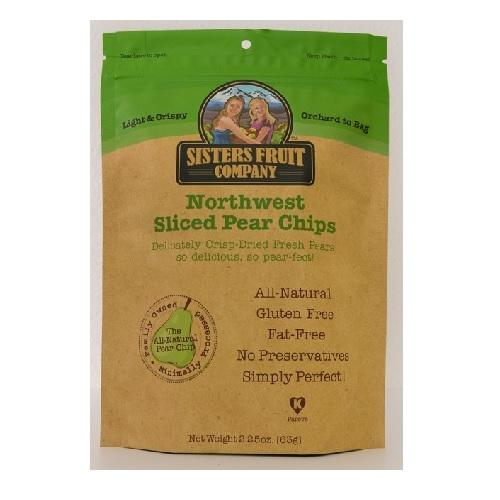 Sisters Fruit Company Northwest Pear Chips Sliced (12X2.25 OZ)