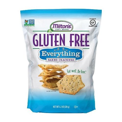 Milton's Gluten Free Baked Crackers Everything (12x4.5 OZ)