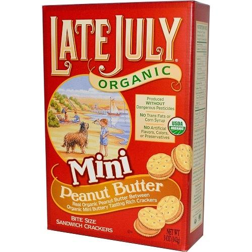 Late July Organic Mini Peanut Butter Bite Size (12x5 OZ)