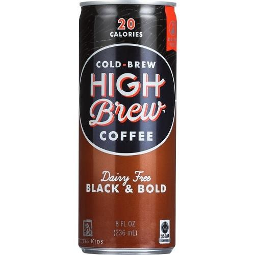High Brew Coffee Black & Bold (12x8 OZ)