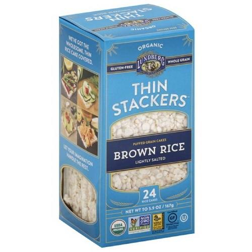 Lundberg Organic Brown Rice Low Sodium Stackers (12x5.9 OZ)