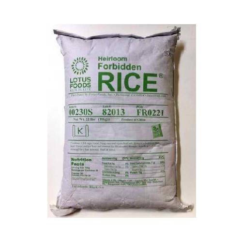 Lotus Foods Frbdn Rice Chna Black (1x22LB )
