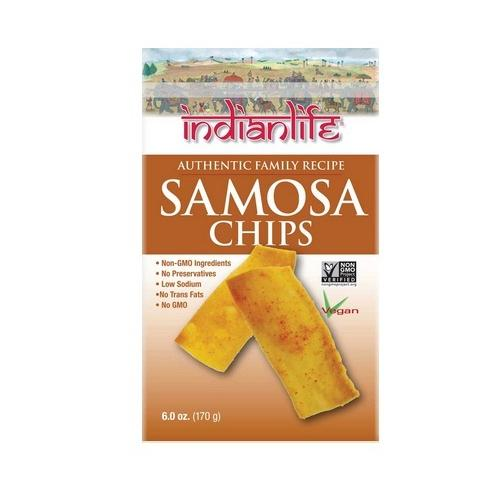 Indian Life Foods Chips, Samosa (12x6 OZ)