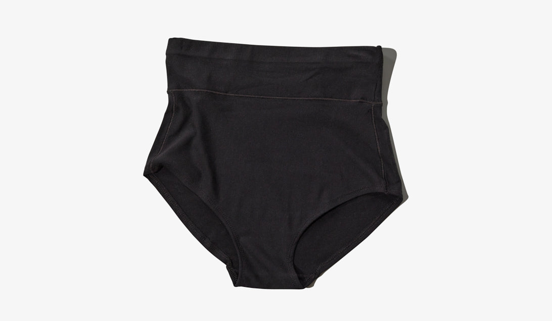 Black high-waist postpartum panty