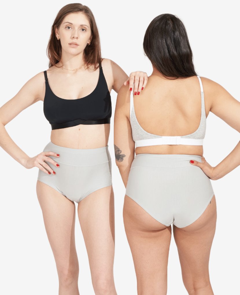High enough to protect an incision, and supportive enough to hold a soft core in postpartum, the All-In Panty brings soft, supportive and chic to a postpartum essential