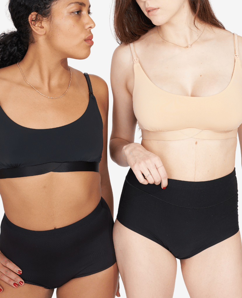 Model on left is wearing S, and typically wears size 34A. Model on the right is wearing M, and typically wears a size 32C.