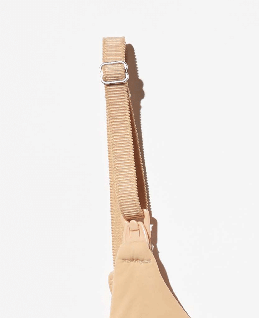 It is all in the details... grosgrain straps with a luxe matte finish and scalloped edge