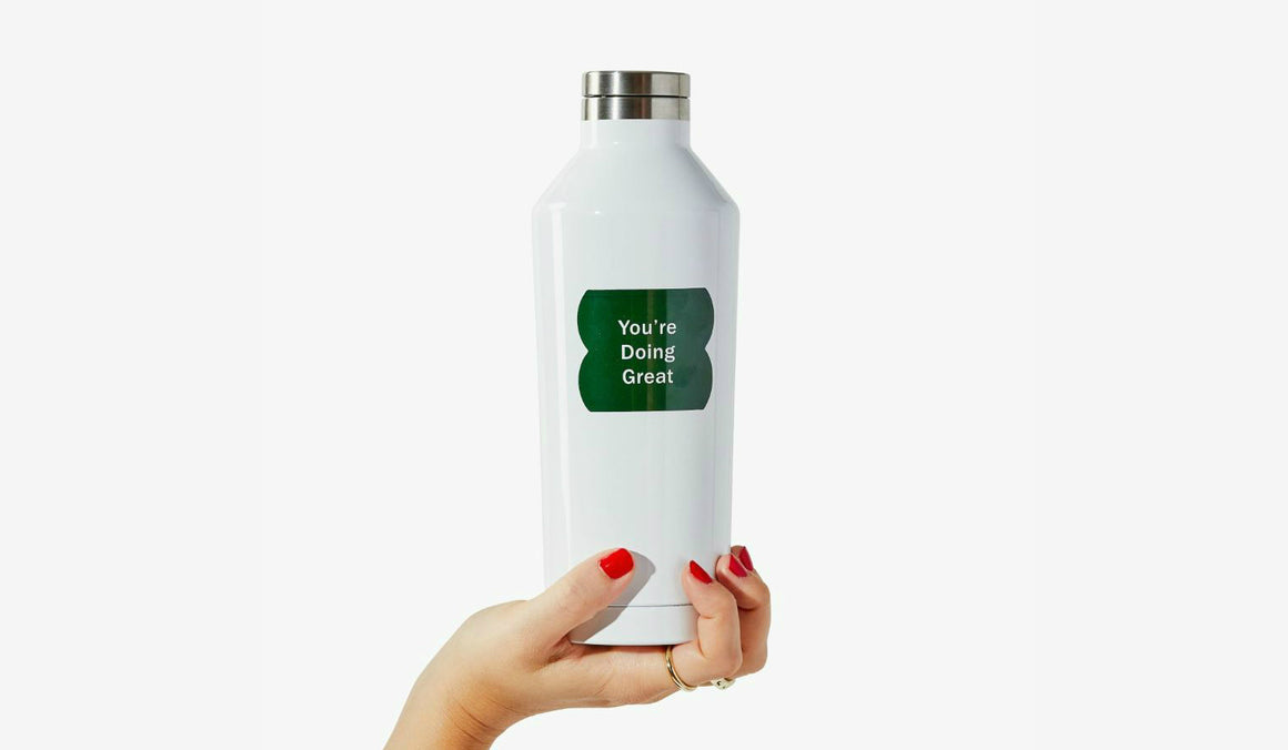 17oz stainless steel double wall insulated water bottle