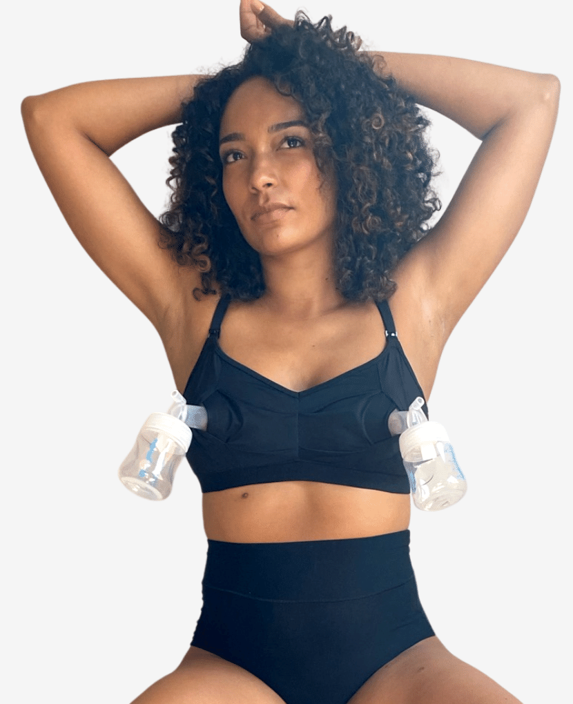 The Do Anything Bra, our hands-free pumping and nursing bra, is compatible with common breast pumps (Spectra, Ameda, Motif, Medela, etc)