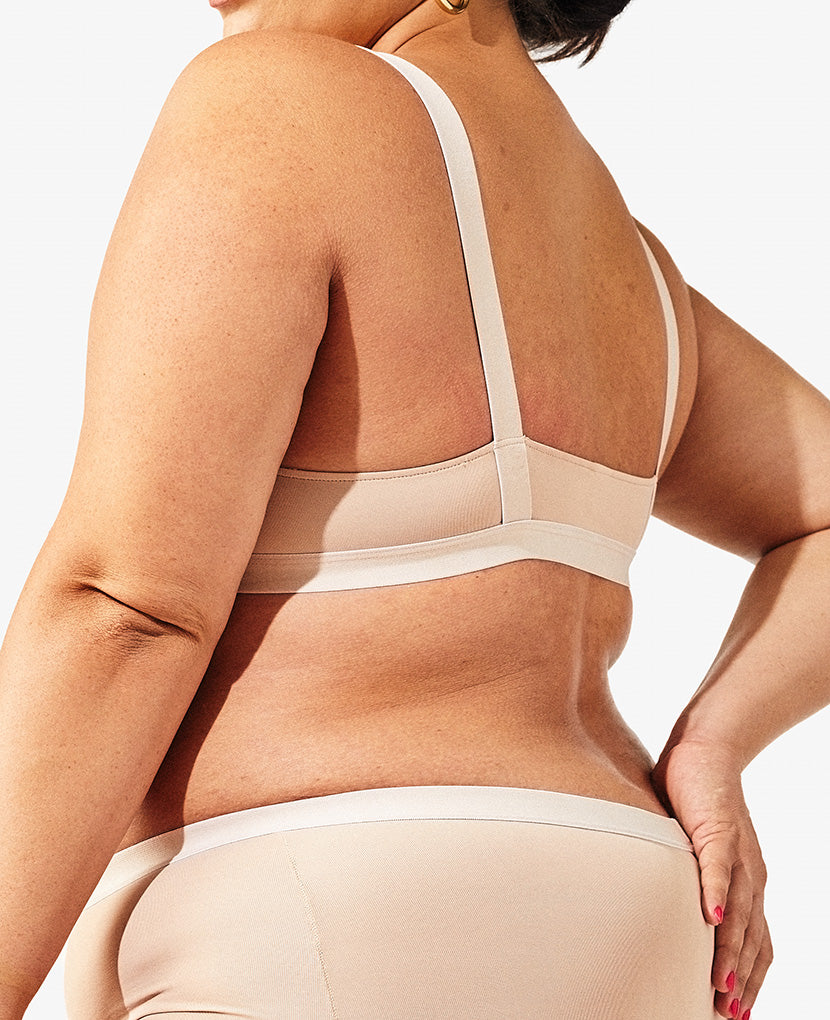 Almond Insider Bra back.