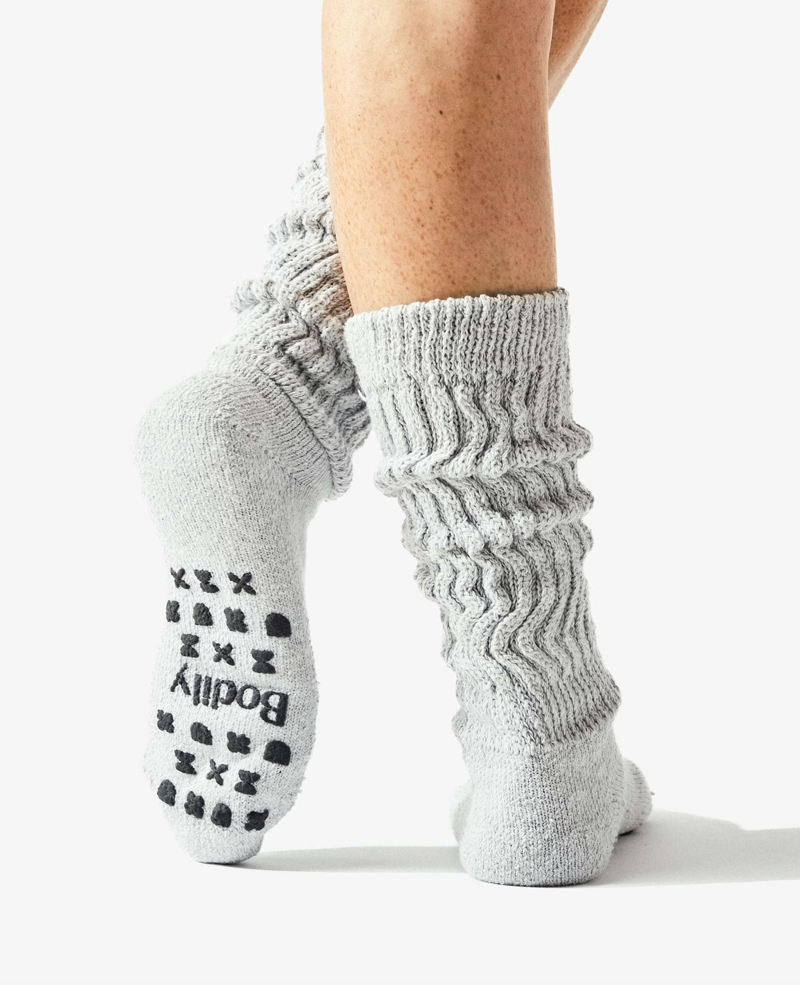 Our foam tread Cozy Sock is made with extra stretch to accommodate pregnancy and postpartum swelling