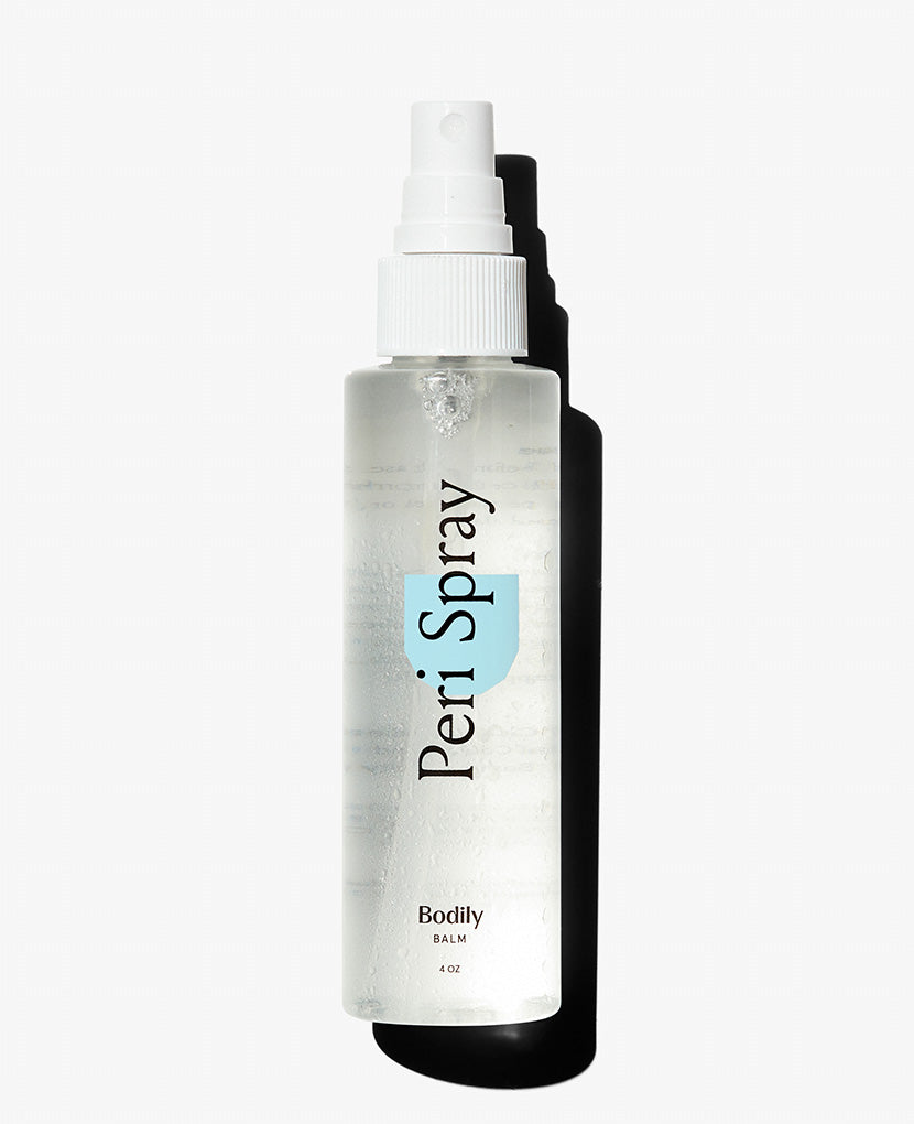 Made of witch hazel, cucumber and peppermint, this Peri Spray soothes and helps heal perineal area after vaginal delivery.