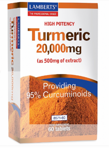 Pure Extract Turmeric 20,000mg (60 tablets)