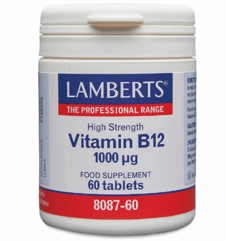 Lamberts, High strength, Vitamin B12, B12, red blood cell supplement, immune system support