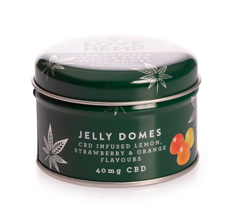 LOVE HEMP VEGAN & SUGAR FREE CBD INFUSED JELLY DOMES - 40MG CBD