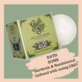 Green Stem Luxury CBD Bath-Bomb - Gardenia & Sandalwood