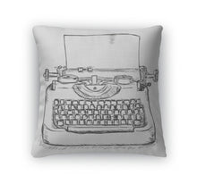 Load image into Gallery viewer, Retro Typewriter Print Throw Pillow