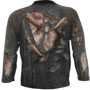 Men's 3D Zombie Wrap Long-Sleeve T-Shirt