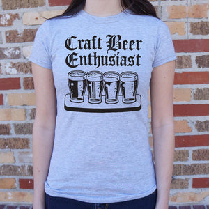 Women's Short-Sleeve T-Shirt - ''Craft Beer Enthusiast''