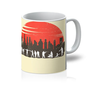 Full Moon Print Ceramic Coffee Mug -  ''Zombie Control''