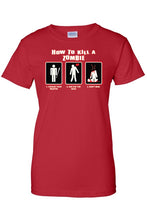Load image into Gallery viewer, Women's Juniors T-Shirt - ''How To Kill A Zombie''