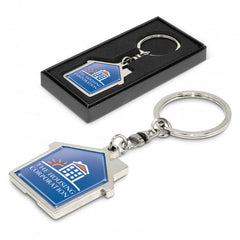House Metal Key Ring